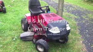 14 5 horse murray lawn tractor cold start and drive youtube
