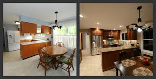 before and after kitchen remodel by choice cabinet west county