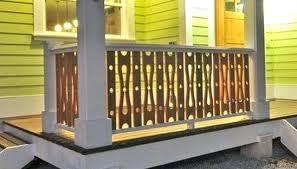 black aluminum deck spindles jigsaw cut circle baluster porch