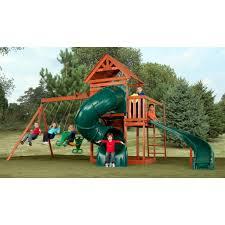 swing n slide grandview twist wood swing set outdoor play backyard