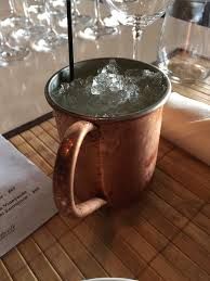 cuisine et bar moscow mule with home made yum yelp