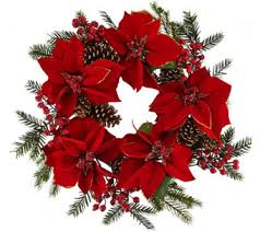 wreaths garlands for the home qvc