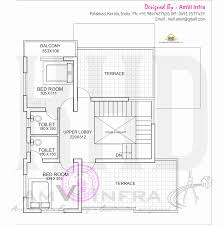 Single Floor House Plans India by Flat Roof Single Floor Home With Stair Room Keralahousedesigns