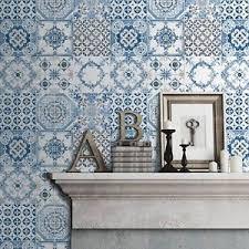 fliesen tapete küche blau fliesen tapete rolls muriva j95601 neu küche badezimmer