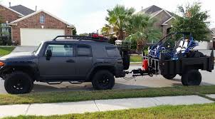 jeep wrangler cargo trailer anyone tow a motorcycle on a trailer jkowners com jeep