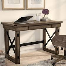 reclaimed wood writing desk reclaimed wood writing desk wayfair