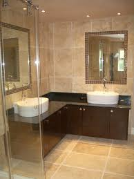 Silver Bathroom Cabinets Bathroom Design Bathroom Shocking Using L Shaped Brown Wooden