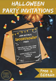 free printable halloween party invitations templates festival