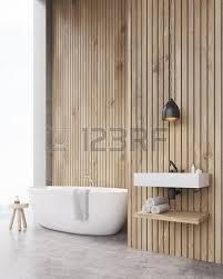 vasche da bagno legno bagno con pareti grigio chiaro vasca da bagno lavandino e la