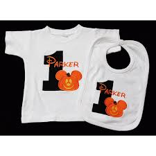 mickey mouse birthday shirt and bib halloween mickey birthday