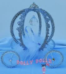 Carriage Centerpiece Disney Inspired Cinderella Carriage Cake Topper Quinceanera