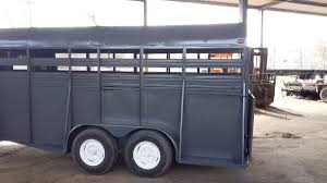 industrial sandblasting and painting of horse trailer commercial