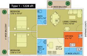 1228 sq ft 2 bhk floor plan image naksha hyde park available rs
