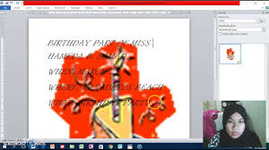 An Invitation Card How To Make An Invitation Card In Ms Word Youtube