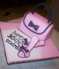 cake purse pink and black purse cake with shoes beth s