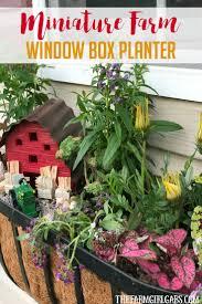 diy window flower boxes miniature farm window box planter the farm gabs