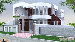 40x75 cute modern house plan kerala home design and floor plans