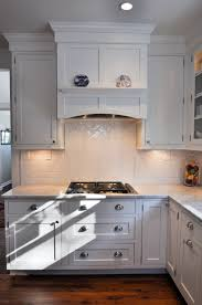 Gas cooktop with under cabinet lighting built in hood
