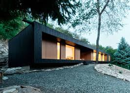 Contemporary Cabin Modern Cabin In A Quarry Embraces Rough Rocky Nature