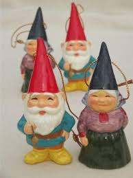 book of gnomes lot of gnome tree ornaments 70s vintage