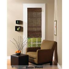 natural linen l shade radiance cocoa havana bamboo roman shade 70 in w x 64 in l