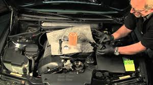 changing the engine oil in a bmw or mini vacuum method youtube