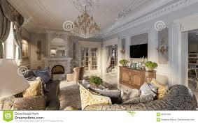 luxurious baroque living room stock illustration image 85581593