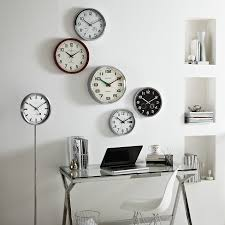 buy lascelles radio controlled wall clock john lewis