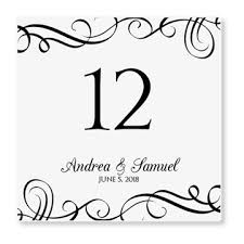 free table number templates instant download wedding table number card template elegant