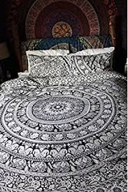 Duvet And Pillow Covers Amazon Com Black And White Mandala Duvet Cover With Two Pillow