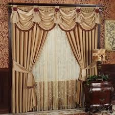Gold Satin Curtains Interior Living Room Mesmerizing Valances And Living Room