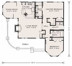 cottage floor plan farmhouse style house plan 2 beds 2 00 baths 1270 sq ft plan