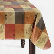 northcrest 60x102 oblong tuscany vinyl tablecloth shopko