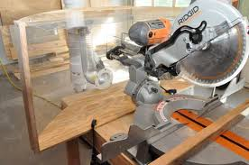 dewalt table saw dust collection how to make a compound miter saw dust hood one project closer
