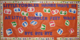 Welcome Back Decorations by Toddler Hands And Feet Bulletin Board Myclassroomideas Com