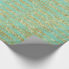 mint wrapping paper mint and gold wrapping paper zazzle