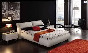 bedroom ideas leather bed interior design