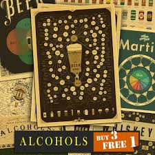 online get cheap vintage alcohol posters aliexpress com alibaba wine collection bars kitchen drawings beer alcohols adornment vintage poster retro posters home decor