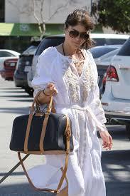 blair in white dress at nail salon in studio city