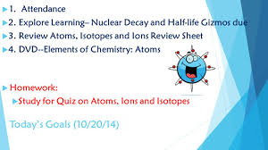 chemistry daily lesson plans quarter 2 ppt video online download
