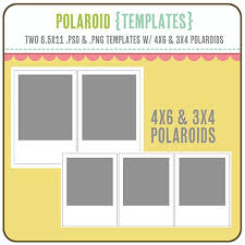 4x6 template polaroid templates 3x4 4x6 โพลาลอย 3x4 4x6