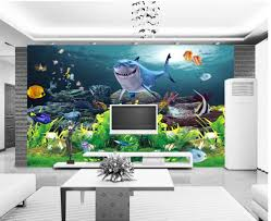 wallpaper nature picture more detailed picture about custom 3d custom 3d photo wall paper sharks underwater world 3d wallpaper nature wall decoration mural 3d wallpaper