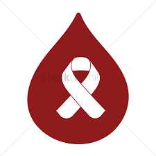 diabetes ribbon blood drop with diabetes ribbon vector image 1495189 stockunlimited