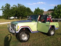 jeep commando custom buy used 1973 custom jeep commando light green with graphics on