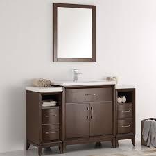 fresca cambridge 54 single bathroom vanity set with mirror