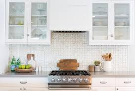 kitchen backsplash mosaic tile gray mosaic kitchen backsplash tiles with glass front cabinets