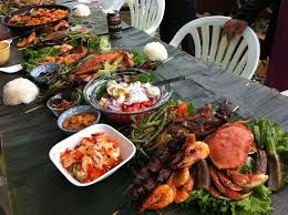 summer kamayan at our backyard patio kamayan pinterest