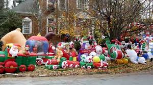 Home Depot Christmas Lawn Decorations by Blow Up Christmas Yard Decorations Part 32 Inflatable Christmas