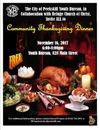 community thanksgiving dinner peekskill ny