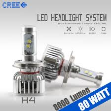 Led Light Bulbs For Headlights by Cree 6000k High Power Led Headlight Bulb 8000 Lumen 80w
